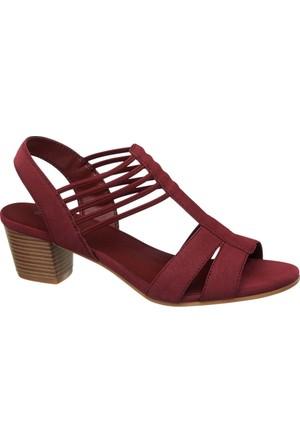 Graceland Kadın Bordo Topuklu Sandalet Kırmızı