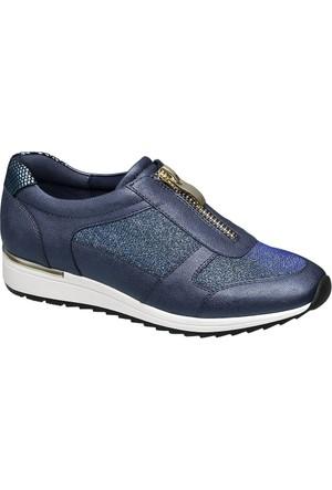 Graceland Kadın Lacivert Bağcıksız Ayakkabı