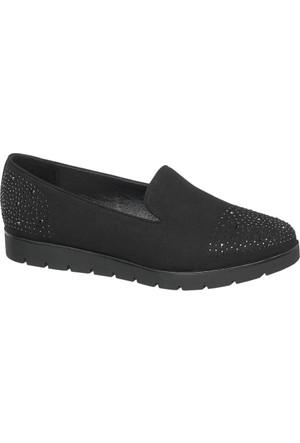 Graceland Kadın Loafer Ayakkabı Siyah