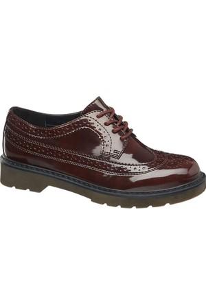 Graceland Kadın Oxford Ayakkabı Bordo