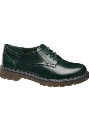 Graceland Kadın Oxford Ayakkabı Yeşil