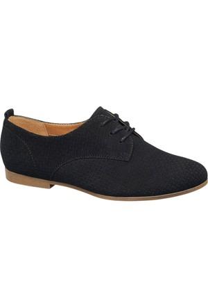 Graceland Kadın Siyah Oxford Ayakkabı