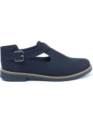 Belpino Petek Desenli Tokalı Kadın Ayakkabı