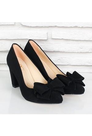 Oc Siyah Süet Fiyonklualçak Topuk Kadın Ayakkabı 081