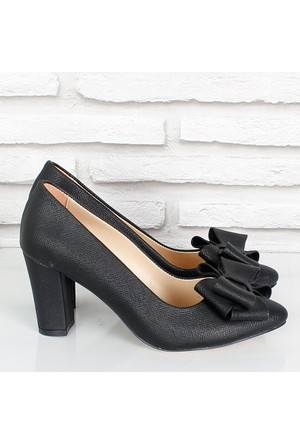 Oc Siyah Prada Fiyonklualçak Topuk Kadın Ayakkabı 081