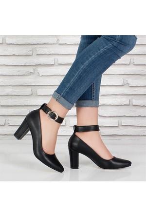 Oc Siyah Yüksek Topuk Tokalıkadın Ayakkabı 089