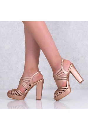 Monetta Pudra Platform Topuklu Kadın Ayakkabı 226