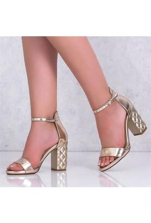Lonar Dore Kalın Topuklu Kadın Ayakkabı 505