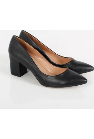 Oc Siyah Kalın Topuk Kadın Ayakkabı Cv100