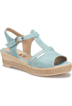 Miss F We01 Yeşil Kadın Dolgu Topuk Sandalet