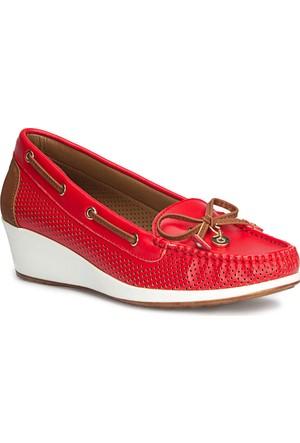 Polaris 71.157258.Z Kırmızı Kadın Loafer Ayakkabı