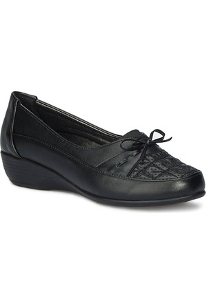 Polaris 71.157273.Z Siyah Kadın Dolgu Topuk Ayakkabı