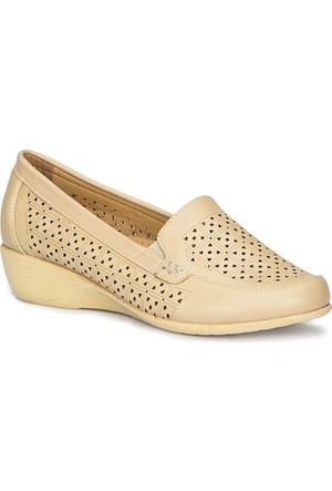 Polaris 71.157274.Z Bej Kadın Dolgu Topuk Ayakkabı