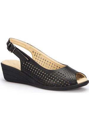 Polaris 71.157326.Z Siyah Kadın Sandalet