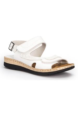 Polaris 71.157371.Z Beyaz Kadın Sandalet