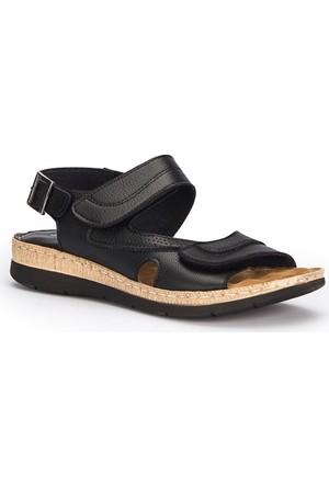 Polaris 71.157371.Z Siyah Kadın Sandalet