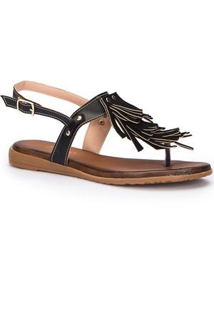 Polaris 71.310152.Z Siyah Kadın Sandalet