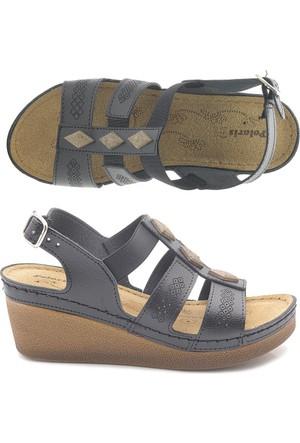 Polaris Yüksek Dolgu Topuk Sandalet Ayakkabı