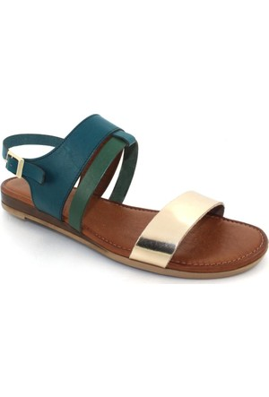 Drexel Yeşil Deri Kadın Sandalet