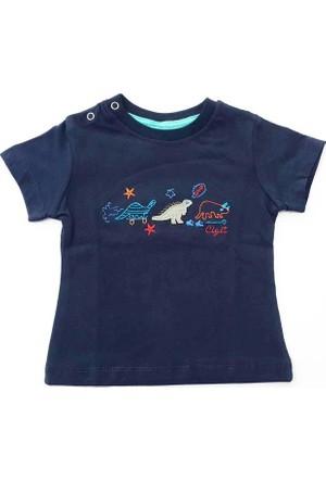 Cıgıt Kids Üç Dinazor Kısa Kol Bebek Tişörtü