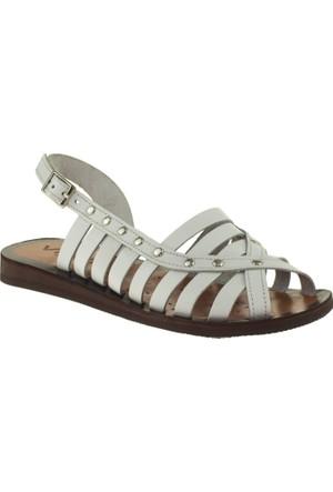 Vicco 626.Z.588 Deri Çocuk Beyaz Sandalet