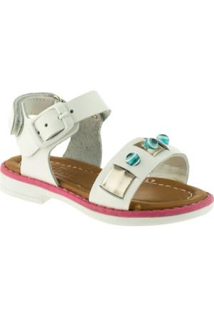 Vicco 905.Z.552 Deri Çocuk Beyaz Sandalet