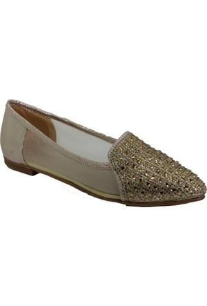 Oflaz Y-216 Günlük Kadın Taşlı Babet Ayakkabı