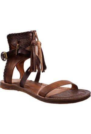 As 98 Castagna Castagna Ossido 534019 104 0006 Sandali Donna Pelle Suola Sintetica Air Step Sandalet