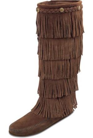 Minnetonka Dusty Brown 1658 Minnetonka 5 Layer Çizme