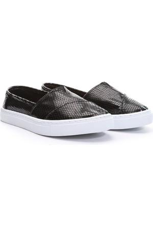 19V69 Italia Bayan Deri Tm Ayakkabı Siyah