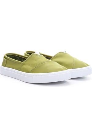 19V69 Italia Bayan Deri Tm Ayakkabı Yeşil