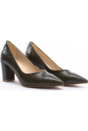 B.F.G Polo Style Bayan Stiletto Ayakkabı Yeşil