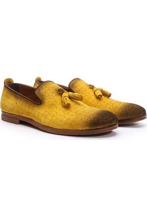 Crops Sport Hakiki Deri Ayakkabı Sarı