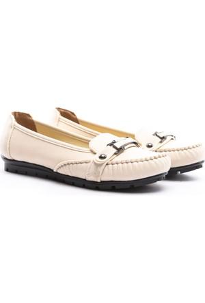 Demir Ayakkabı Bayan Babet Krem Rengi