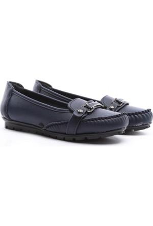 Demir Ayakkabı Bayan Babet Lacivert