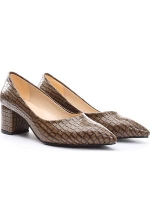 Limited Edition Bayan Stiletto Ayakkabı Vizon