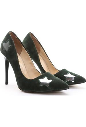 Shoes&Moda Bayan Stiletto Ayakkabı Yeşil