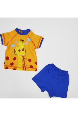 Baby By Bumbo Çizgili Zürafa Şortlu 2'li Takım