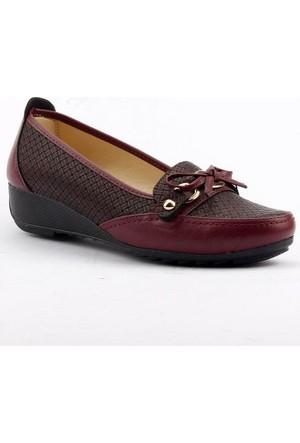 Wanetti 1505 Dolgu Topuk Günlük Rahat Taban Babet Bayan Ayakkabı