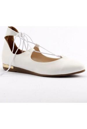 Yükseksoy Bağcıklı Bilekten İpli Bayan Babet Ayakkabı