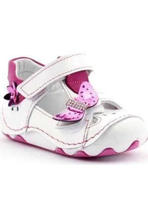 Teo Bebe 3900 Deri Ortopedik Cırtlı Kız Çocuk Ayakkabı