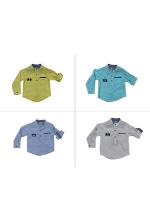 Tımo Erkek Bebek 6 - 12 - 18 - 24 Ay Keten Gömlek