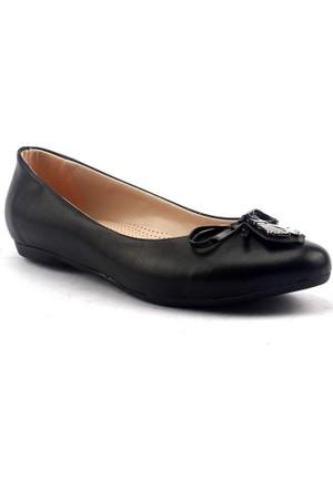 Alens Büyük Numara Günlük Rahat Taban Bayan Babet Ayakkabı