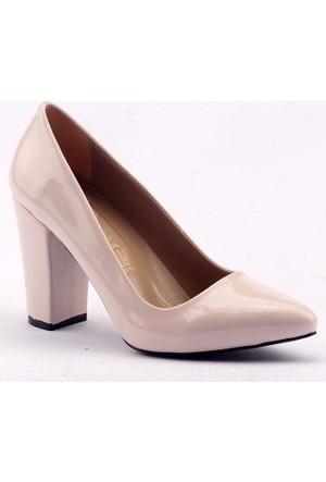 Mangom 140 8.5 cm Kalın Topuk Bayan Rugan Ayakkabı