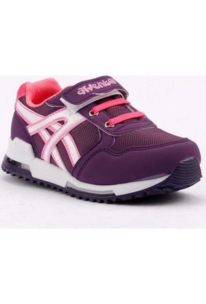 Arvento 860 Işıklı Fileli Kız Çocuk Spor Ayakkabı