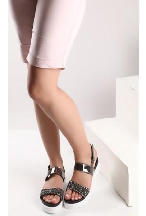 Pembe Potin Bakır Sandalet