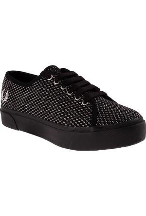 Fred Perry 153 Phoenix Flatform Checker Board Wool-B7451W B7451W Kadın Ayakkabı F102 Black