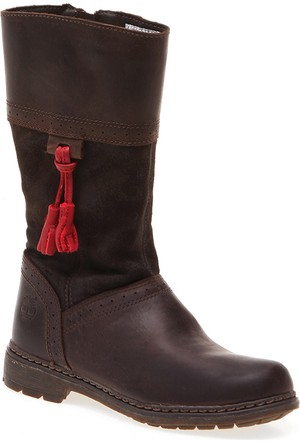 Timberland Amesbury Girls Tall Boot 8279R Çocuk Bot Dk Brown