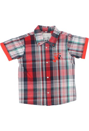 Modakids Nanica Erkek Çocuk Ekose Kısa Kol Gömlek (1 - 3 Yaş) 0014962002