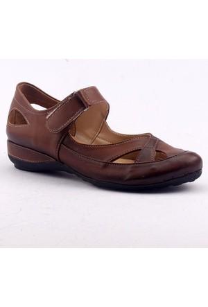 Ayakdaş 216-1 Günlük Cırtlı Kapalı Burun Bayan Sandalet Ayakkabı